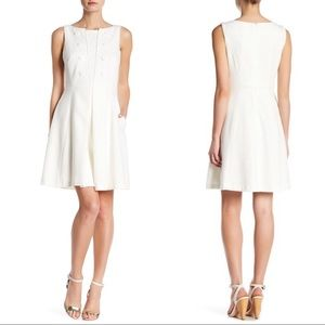 Nanette Lepore White Pleated Dress
